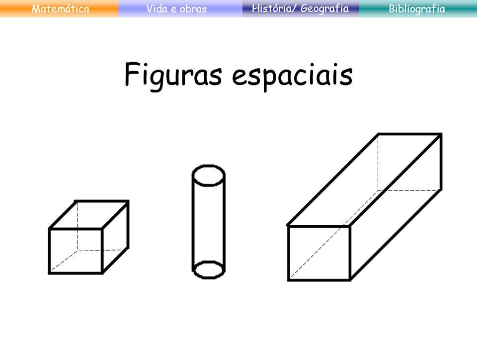 Figuras espaciais Matemática Vida e obras História/ Geografia