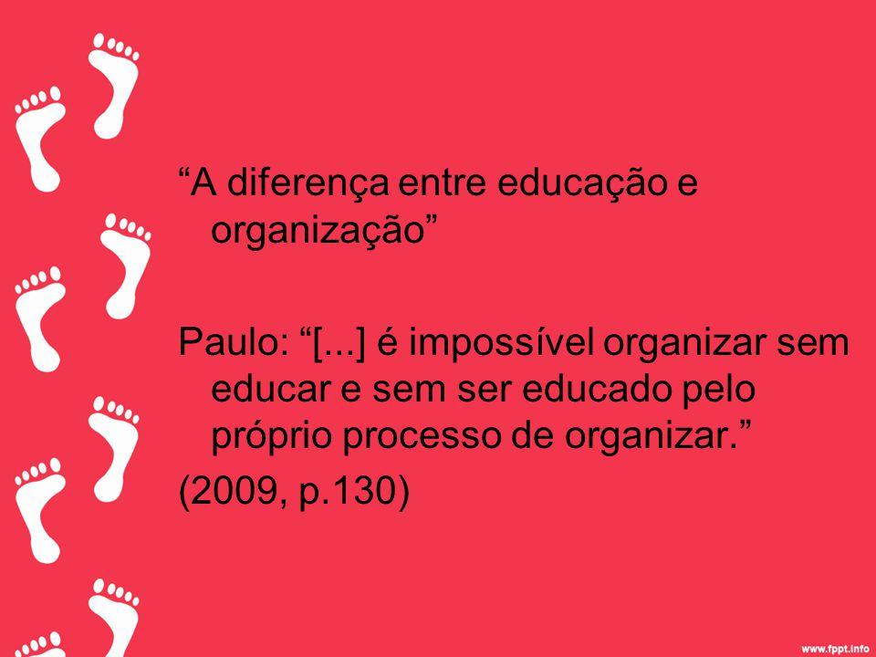 A diferença entre educação e organização