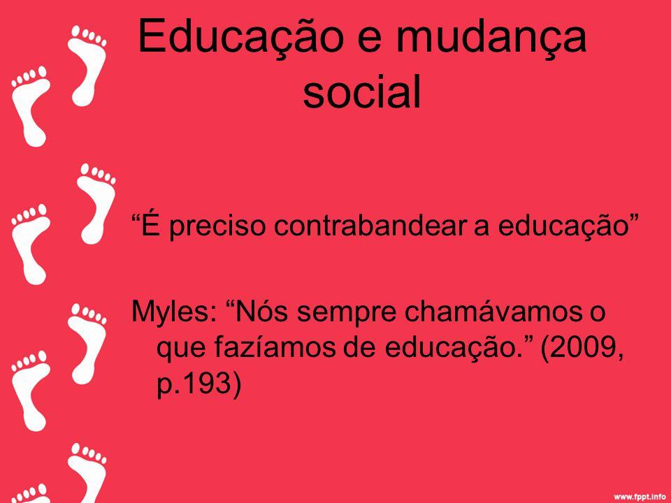 Educação e mudança social