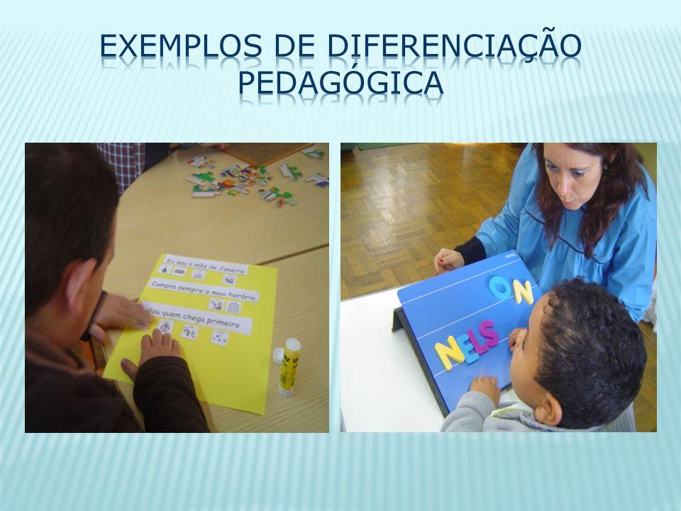 Exemplos de diferenciação pedagógica