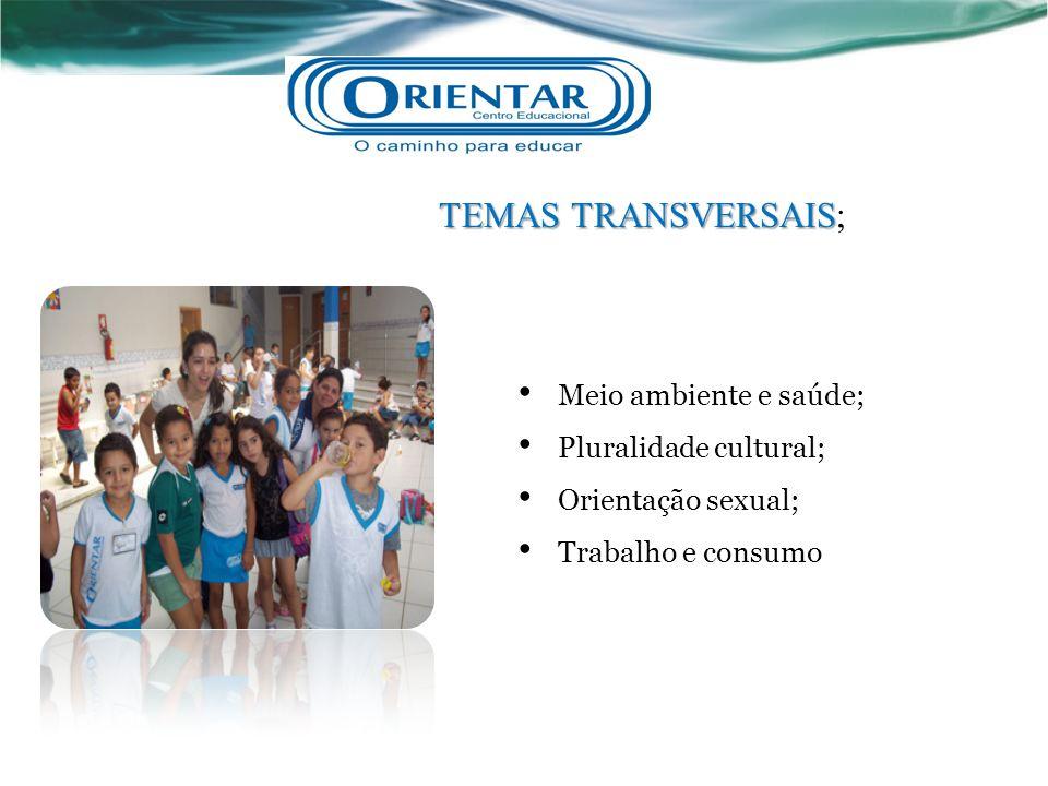 TEMAS TRANSVERSAIS; Meio ambiente e saúde; Pluralidade cultural;