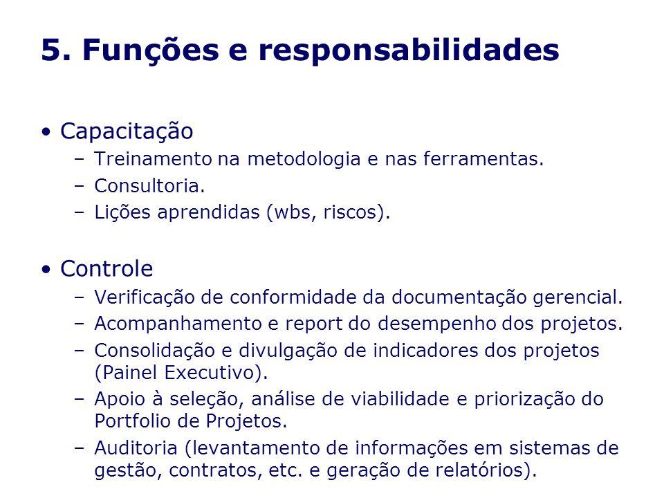 5. Funções e responsabilidades