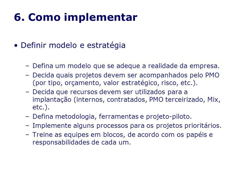 6. Como implementar Definir modelo e estratégia