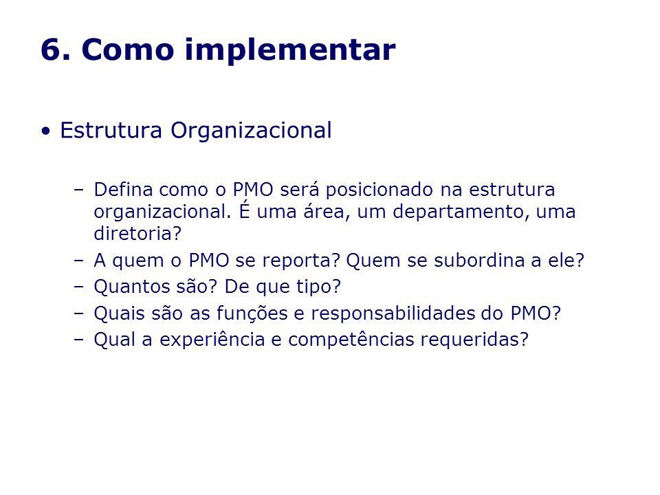 6. Como implementar Estrutura Organizacional