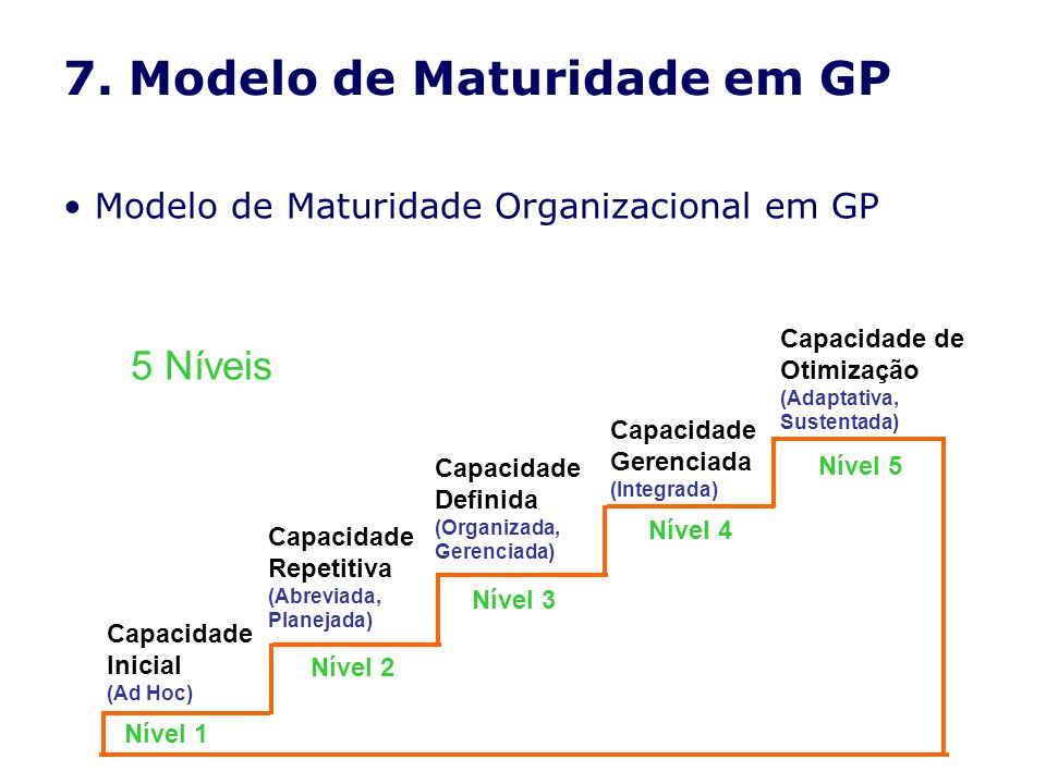 7. Modelo de Maturidade em GP