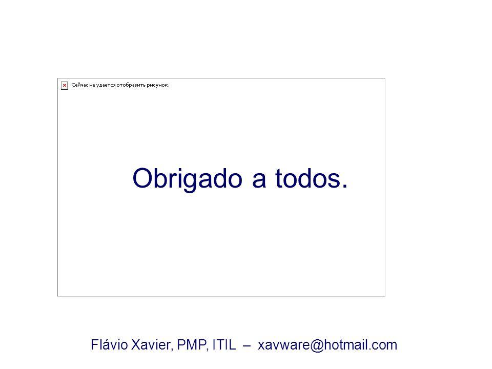 Flávio Xavier, PMP, ITIL – xavware@hotmail.com