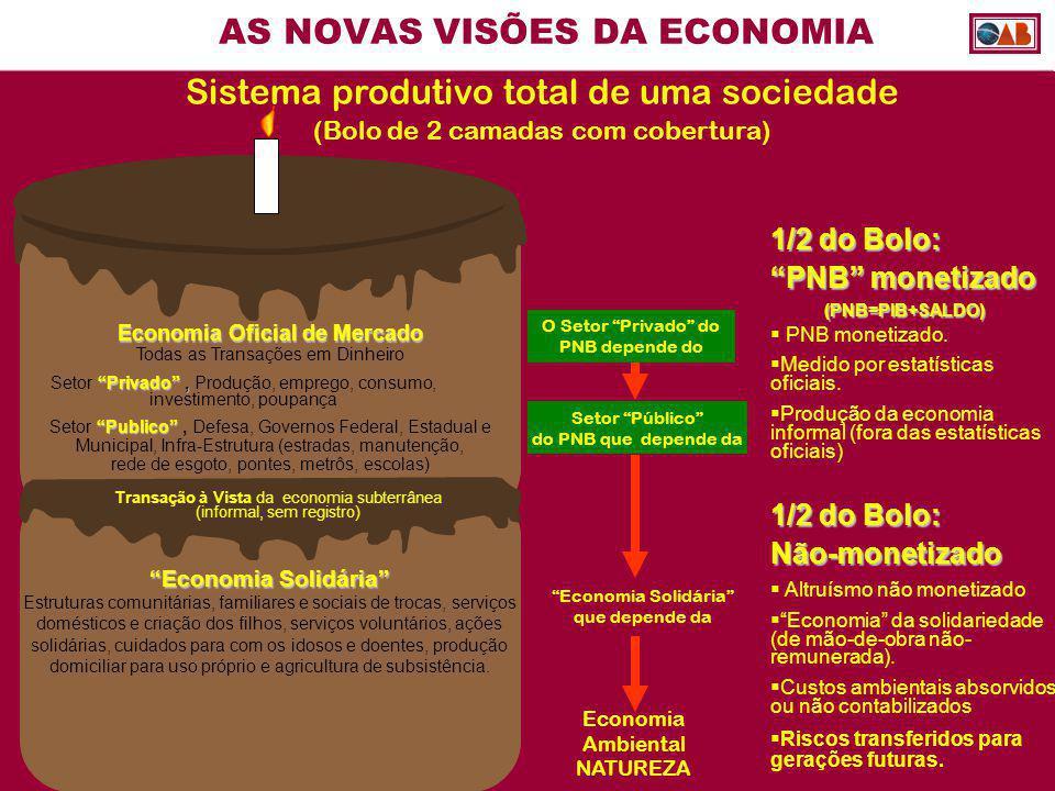 AS NOVAS VISÕES DA ECONOMIA