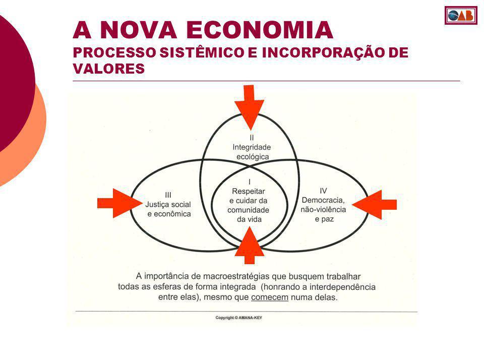 A NOVA ECONOMIA PROCESSO SISTÊMICO E INCORPORAÇÃO DE VALORES