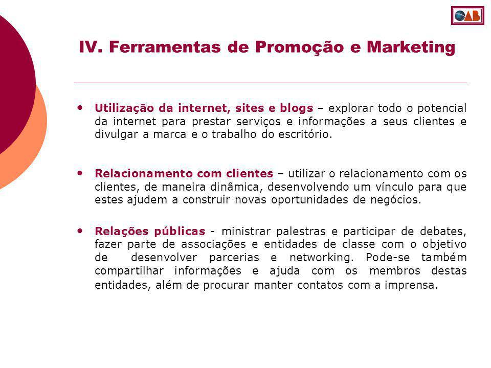 IV. Ferramentas de Promoção e Marketing