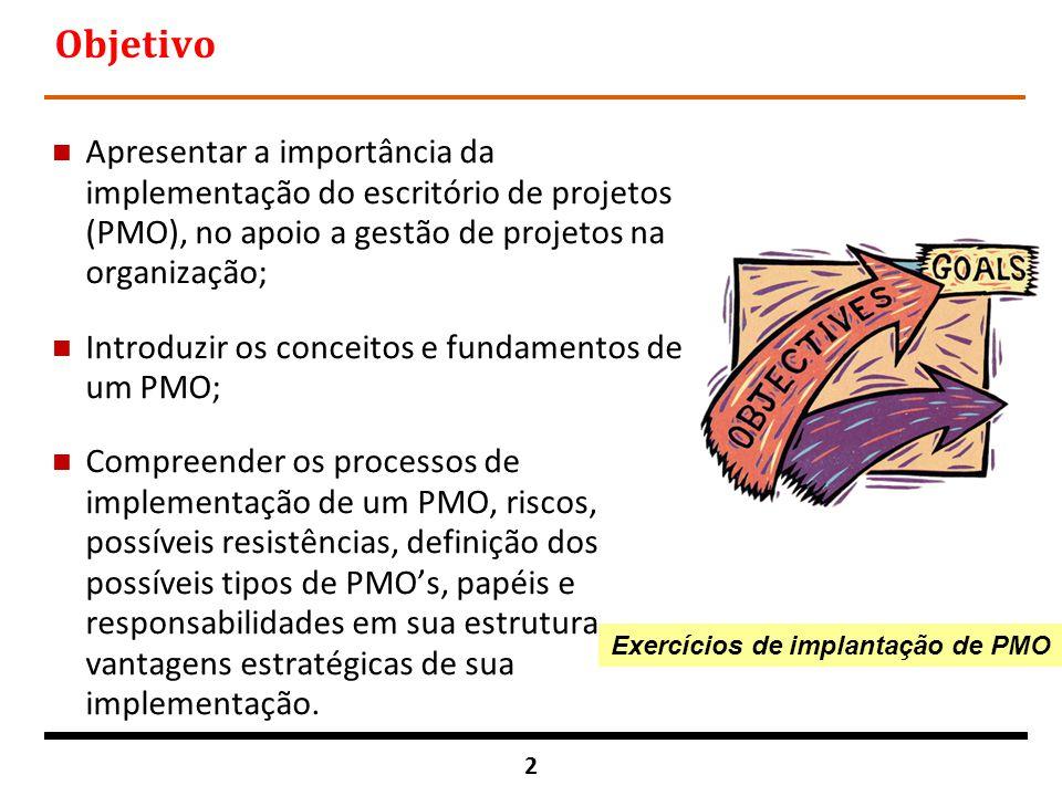 Exercícios de implantação de PMO