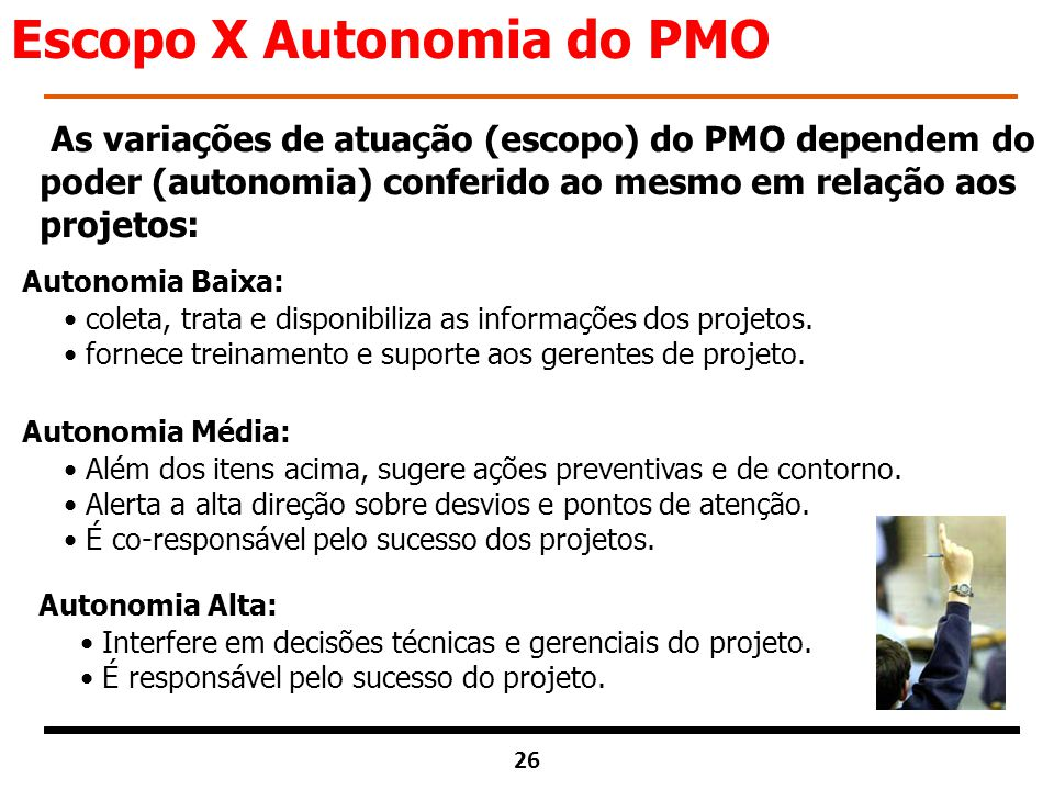 Escopo X Autonomia do PMO
