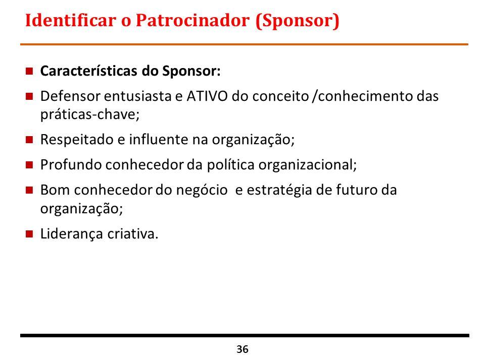 Identificar o Patrocinador (Sponsor)