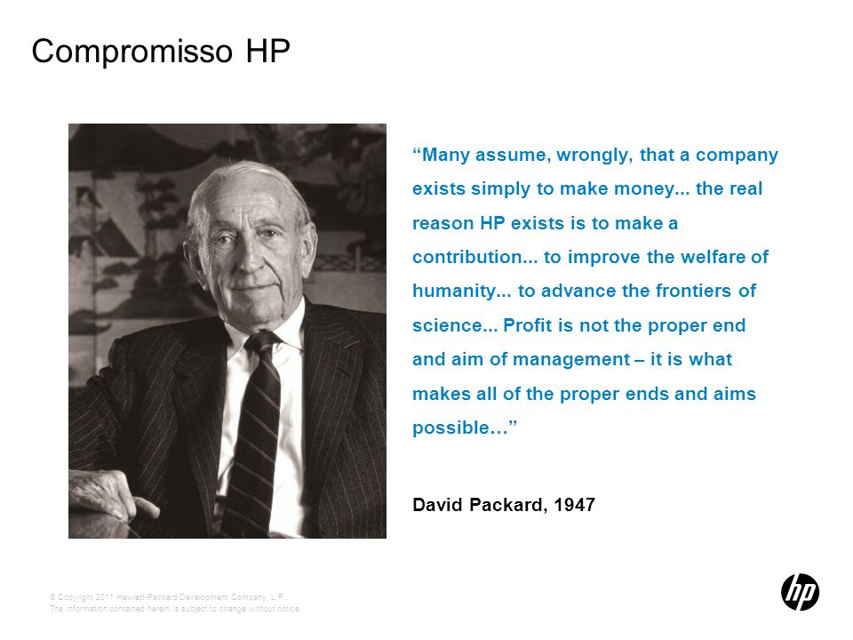 Compromisso HP