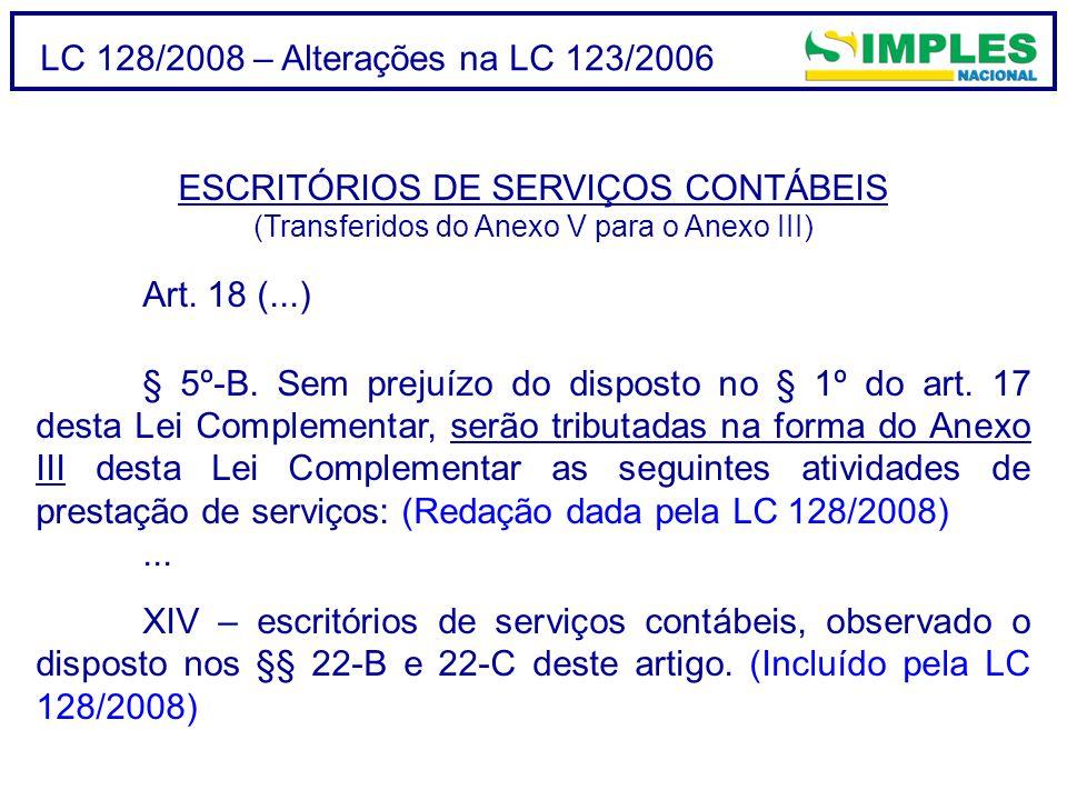 ESCRITÓRIOS DE SERVIÇOS CONTÁBEIS