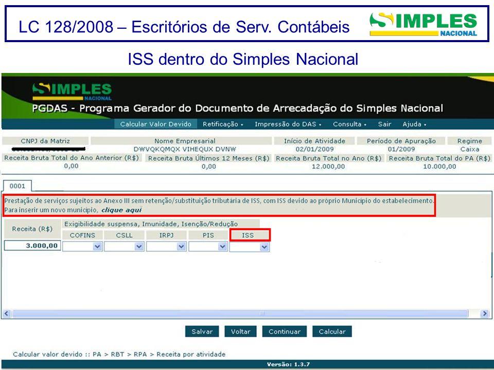 ISS dentro do Simples Nacional