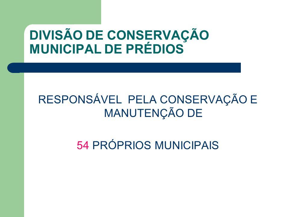 DIVISÃO DE CONSERVAÇÃO MUNICIPAL DE PRÉDIOS