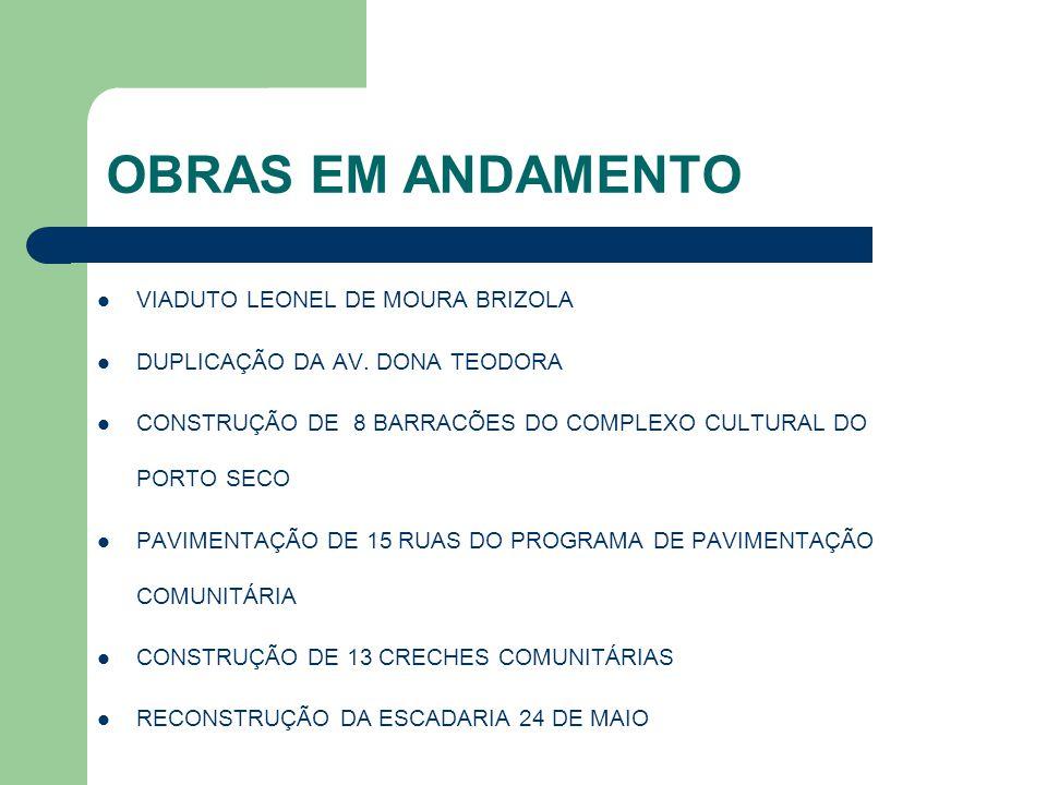 OBRAS EM ANDAMENTO VIADUTO LEONEL DE MOURA BRIZOLA