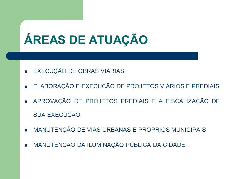 ÁREAS DE ATUAÇÃO EXECUÇÃO DE OBRAS VIÁRIAS