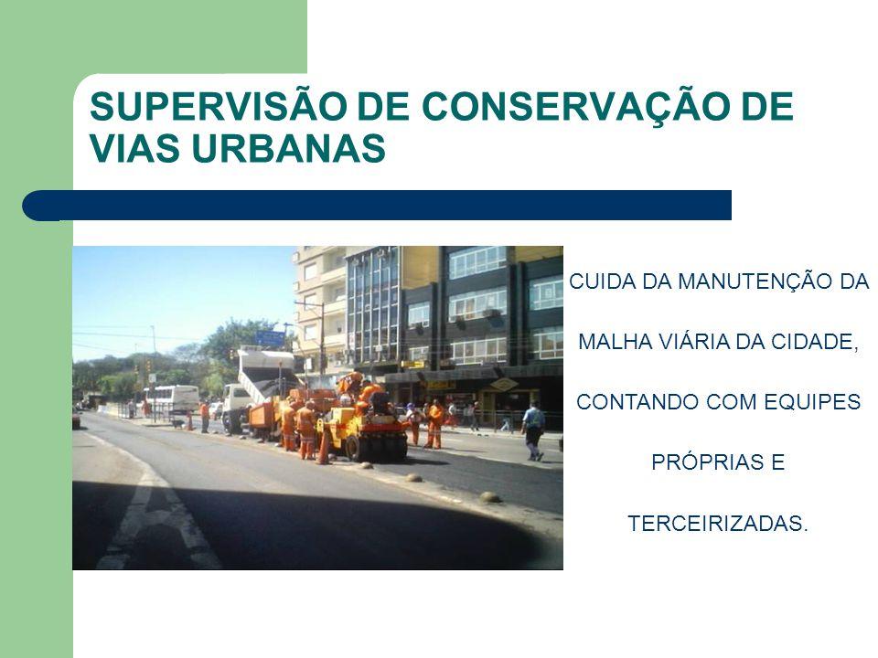SUPERVISÃO DE CONSERVAÇÃO DE VIAS URBANAS