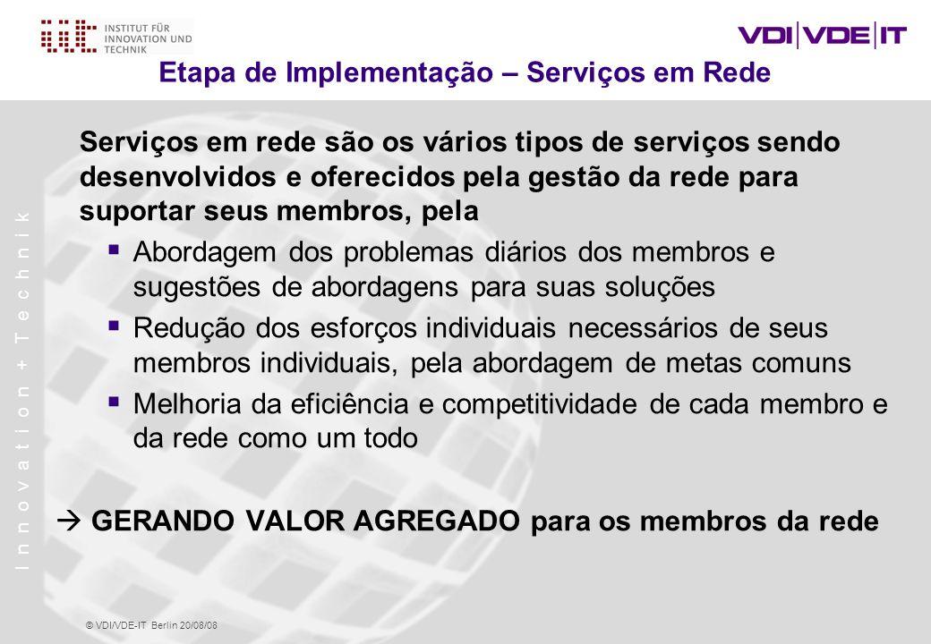 Etapa de Implementação – Serviços em Rede
