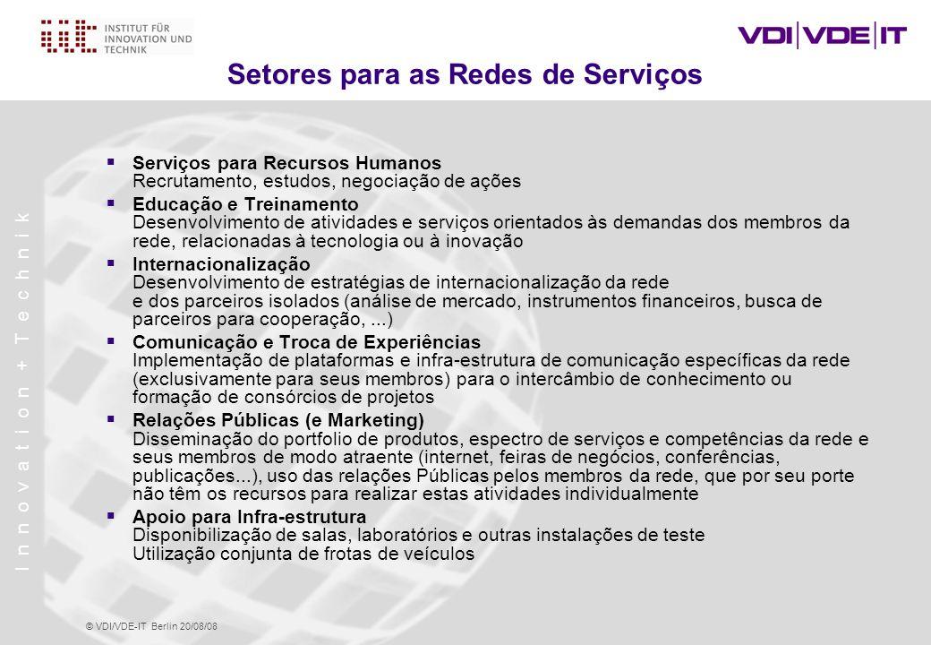 Setores para as Redes de Serviços