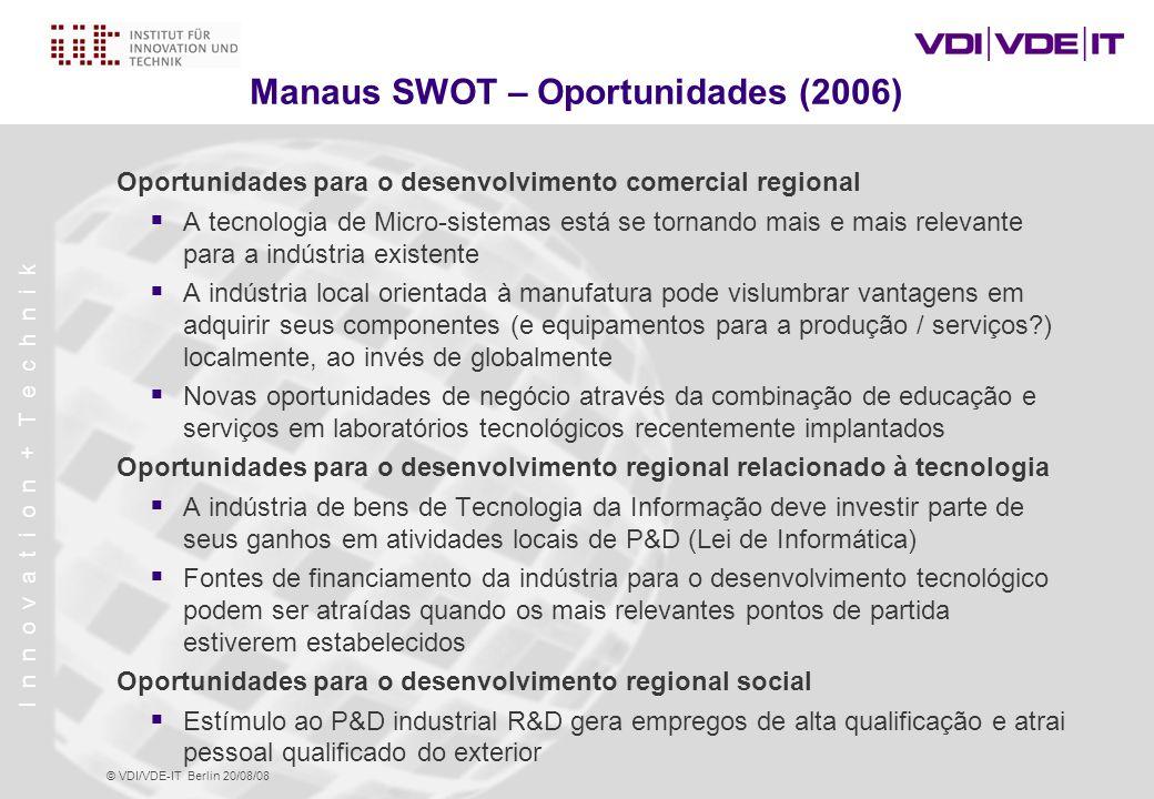 Manaus SWOT – Oportunidades (2006)