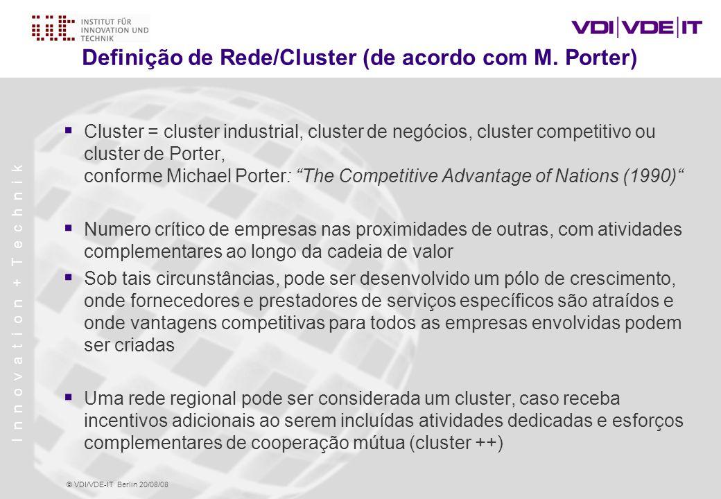Definição de Rede/Cluster (de acordo com M. Porter)
