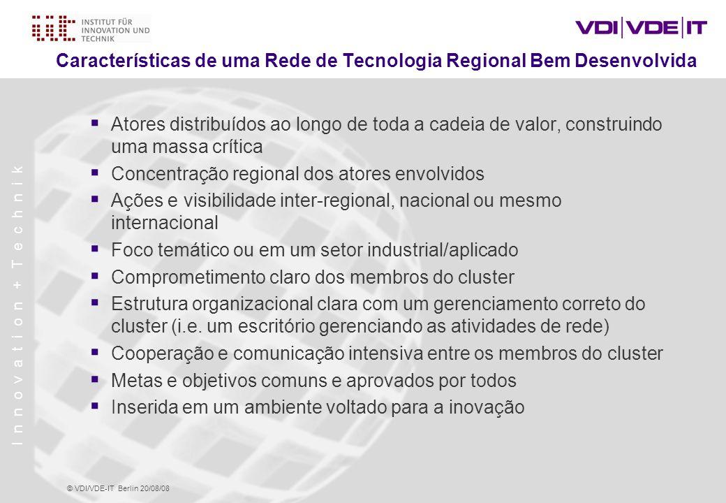 Características de uma Rede de Tecnologia Regional Bem Desenvolvida