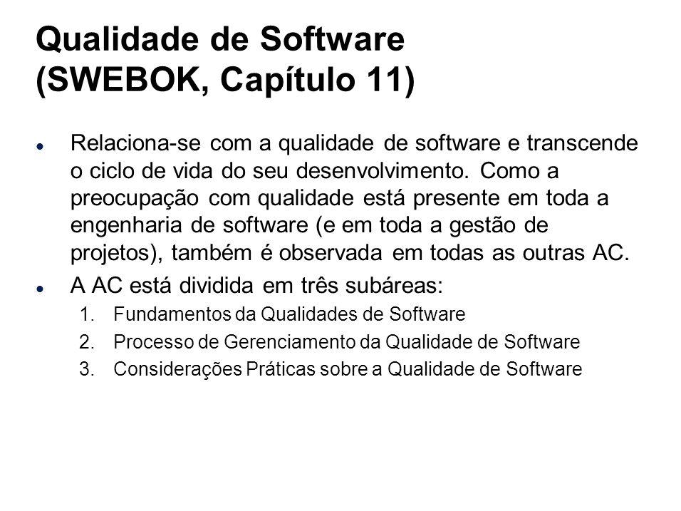 Qualidade de Software (SWEBOK, Capítulo 11)