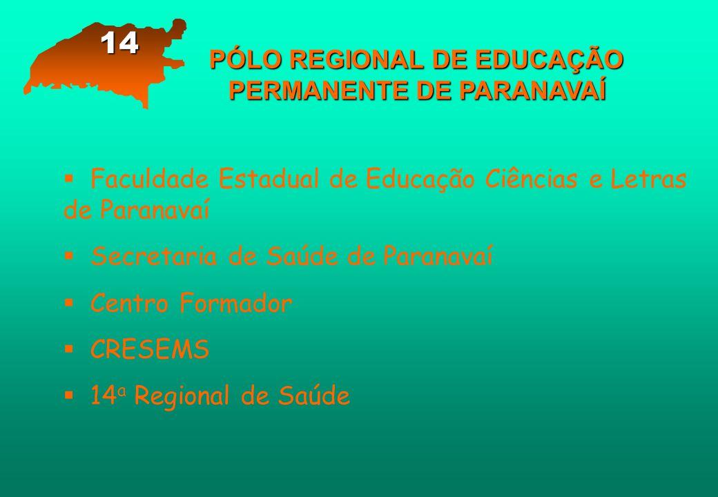 PÓLO REGIONAL DE EDUCAÇÃO PERMANENTE DE PARANAVAÍ