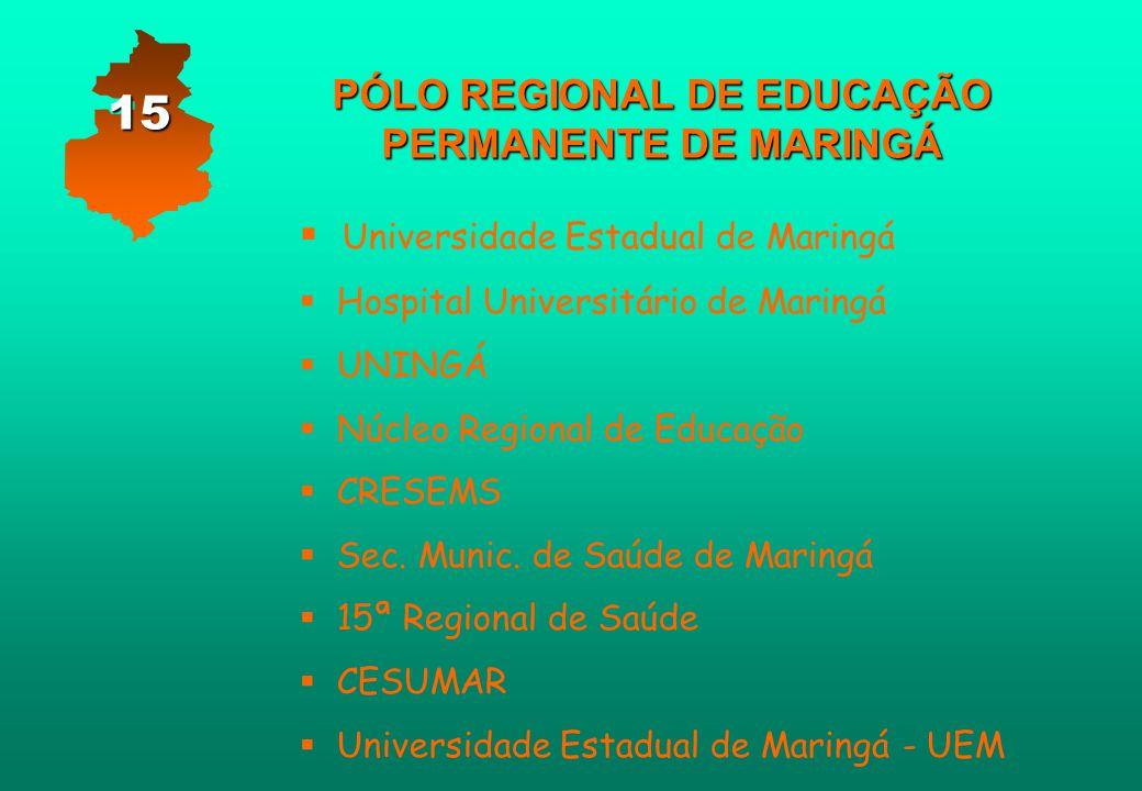 PÓLO REGIONAL DE EDUCAÇÃO PERMANENTE DE MARINGÁ