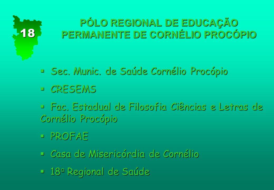PÓLO REGIONAL DE EDUCAÇÃO PERMANENTE DE CORNÉLIO PROCÓPIO