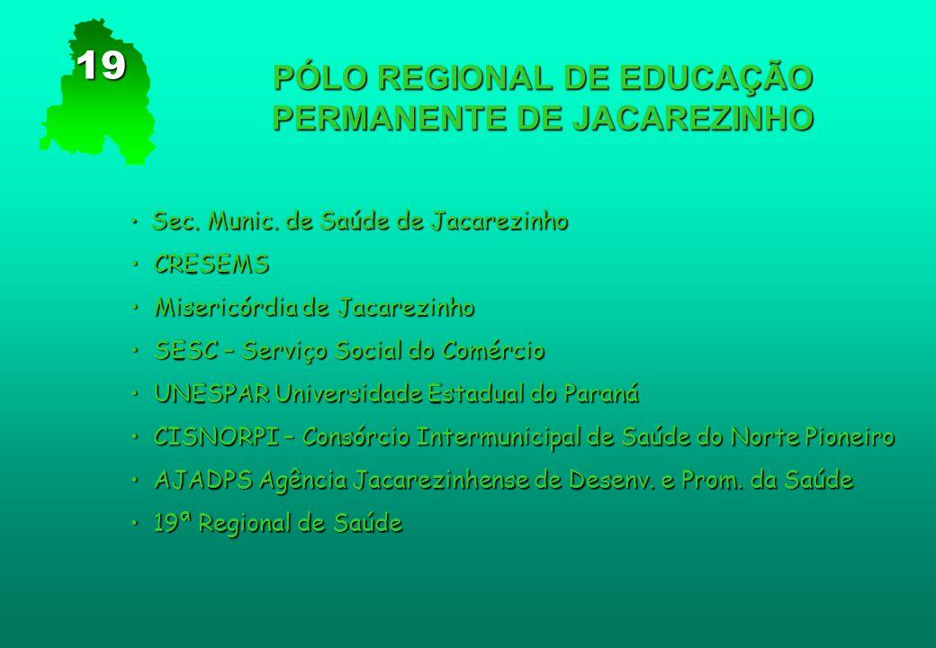 PÓLO REGIONAL DE EDUCAÇÃO PERMANENTE DE JACAREZINHO