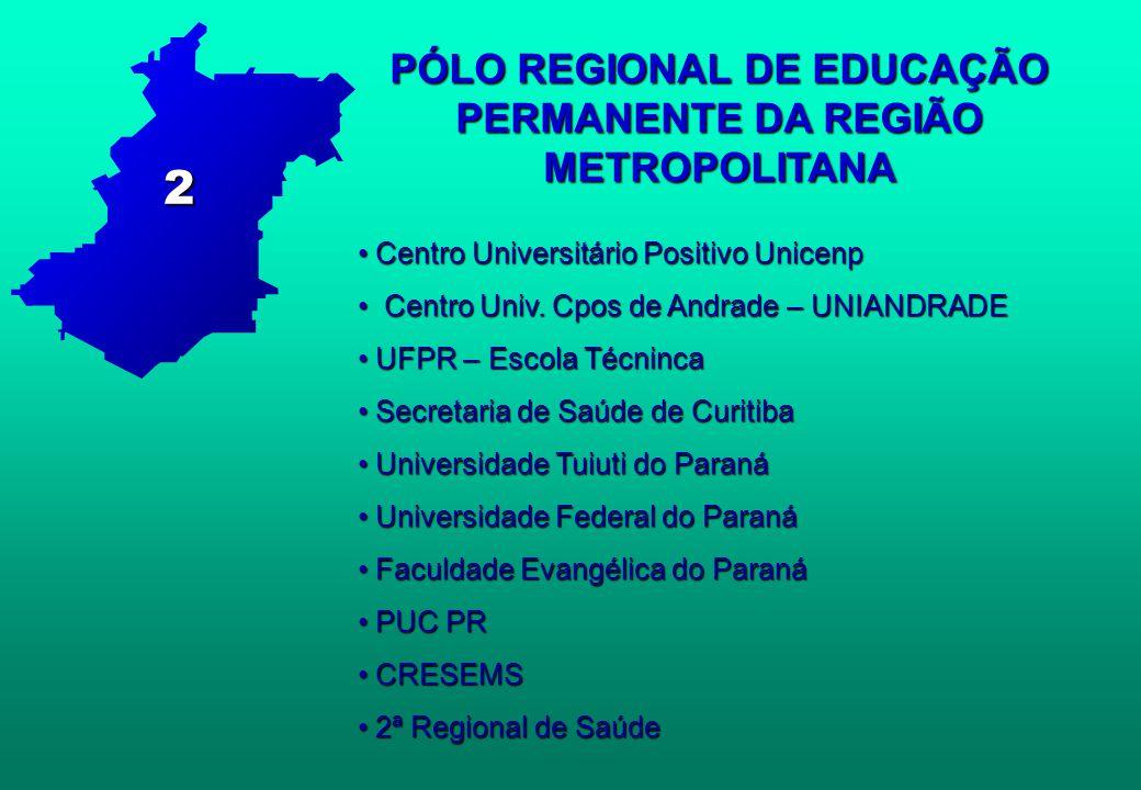 PÓLO REGIONAL DE EDUCAÇÃO PERMANENTE DA REGIÃO METROPOLITANA