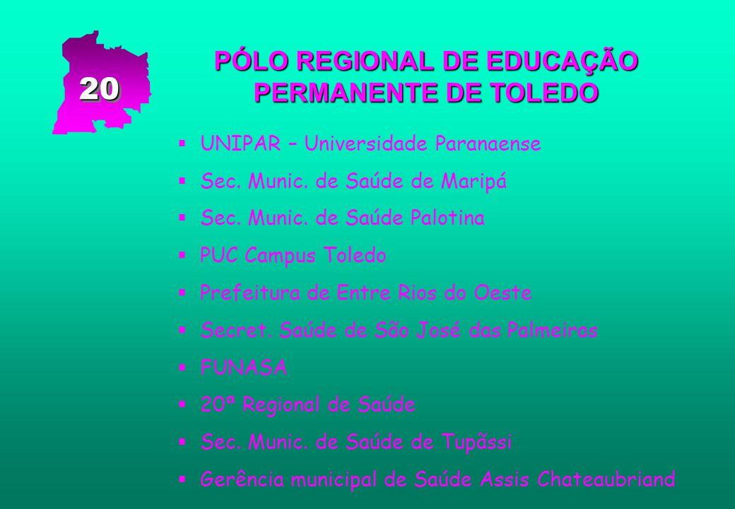 PÓLO REGIONAL DE EDUCAÇÃO PERMANENTE DE TOLEDO