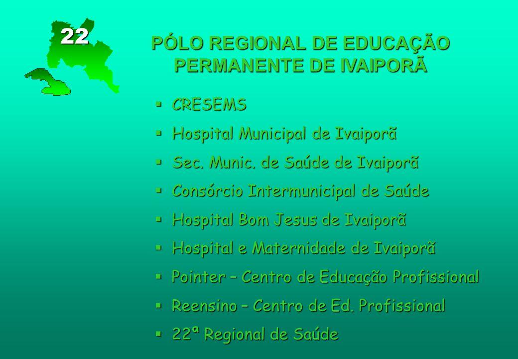 PÓLO REGIONAL DE EDUCAÇÃO PERMANENTE DE IVAIPORÃ