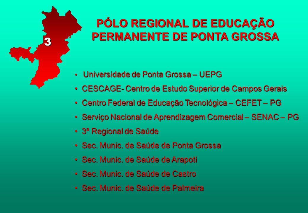 PÓLO REGIONAL DE EDUCAÇÃO PERMANENTE DE PONTA GROSSA