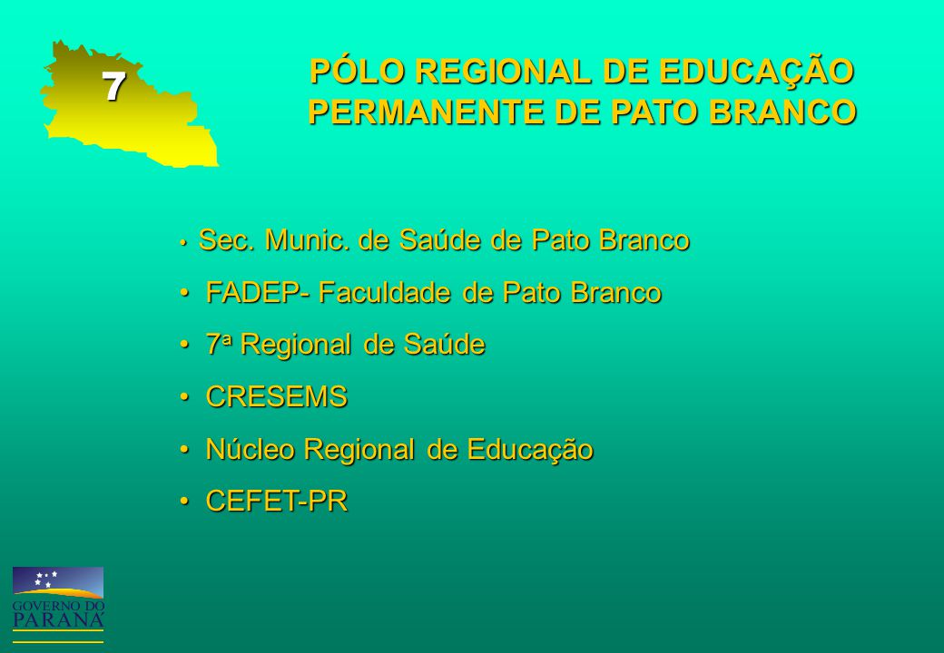 PÓLO REGIONAL DE EDUCAÇÃO PERMANENTE DE PATO BRANCO