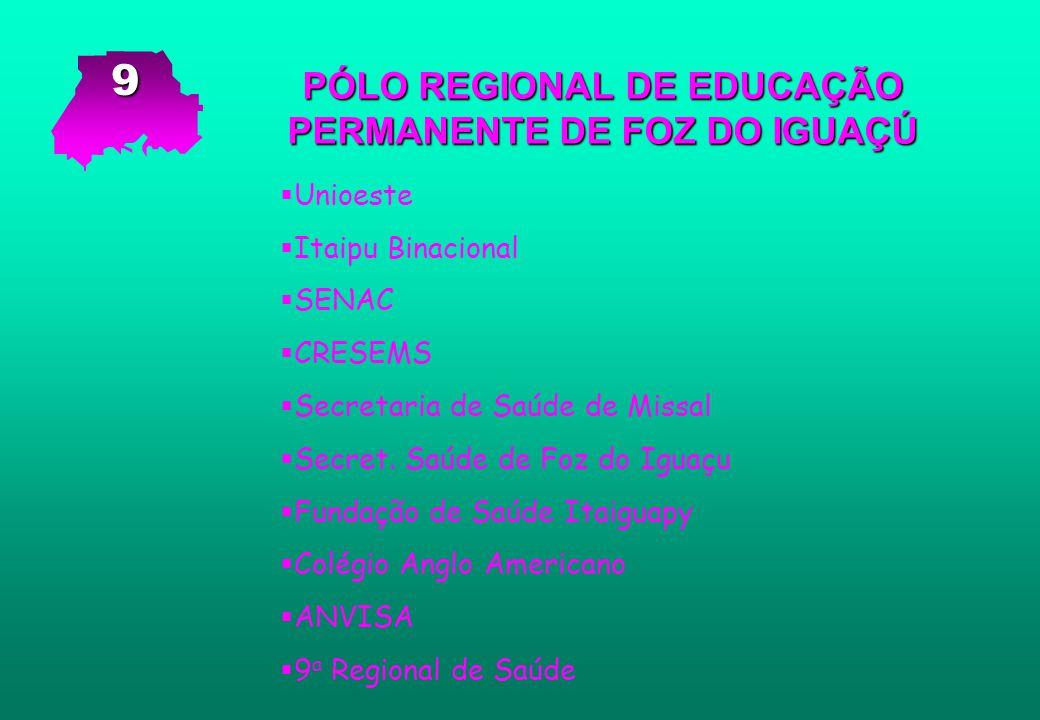 PÓLO REGIONAL DE EDUCAÇÃO PERMANENTE DE FOZ DO IGUAÇÚ