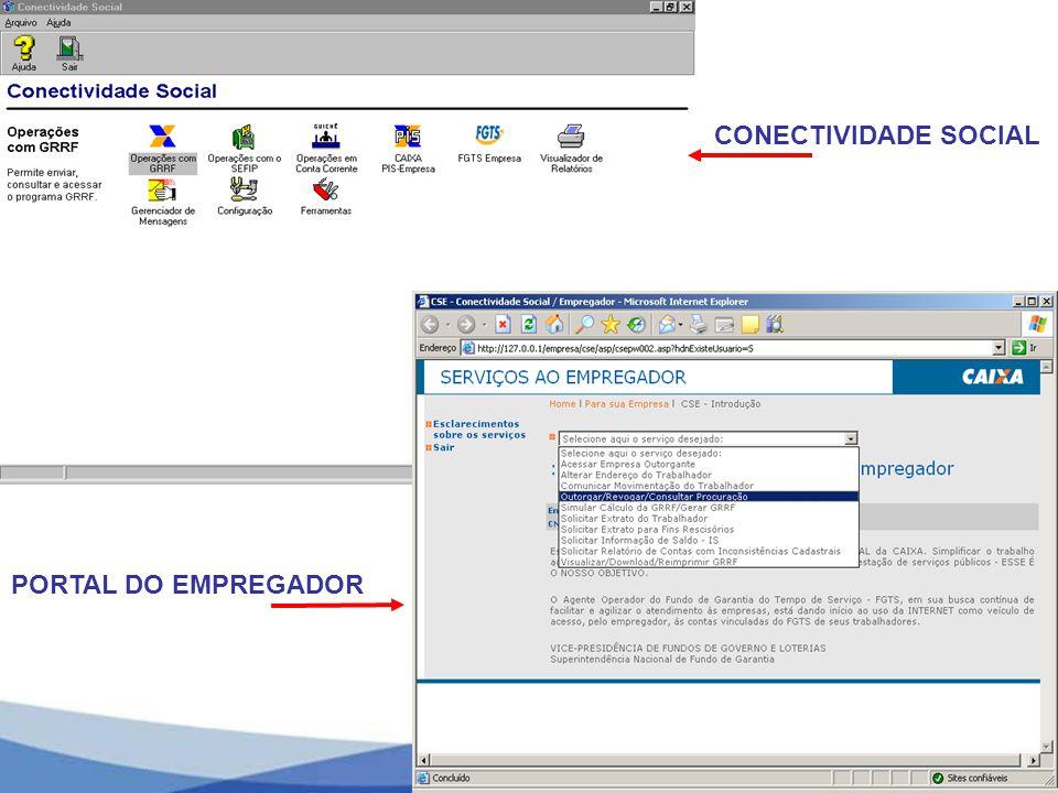 CONECTIVIDADE SOCIAL PORTAL DO EMPREGADOR