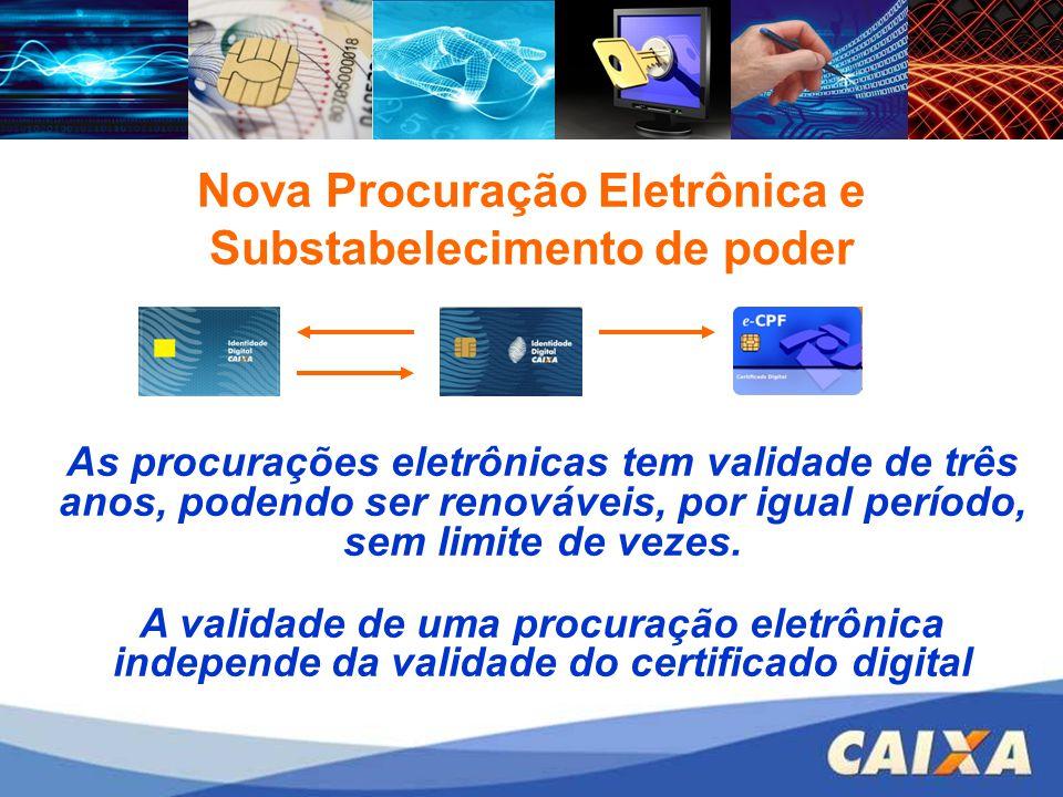Nova Procuração Eletrônica e Substabelecimento de poder