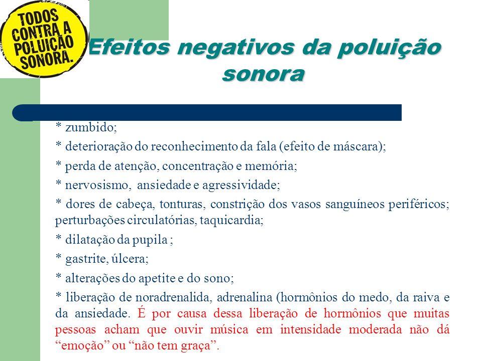 Efeitos negativos da poluição sonora