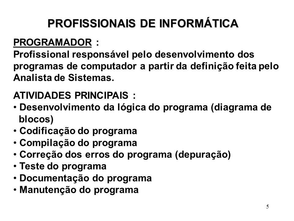 PROFISSIONAIS DE INFORMÁTICA