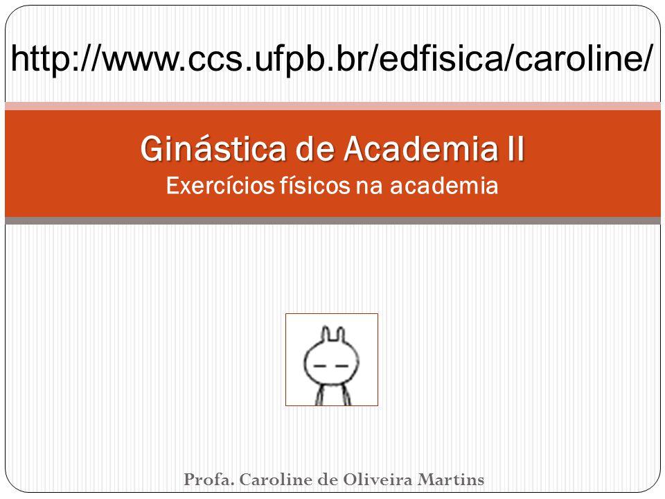 Ginástica de Academia II Exercícios físicos na academia