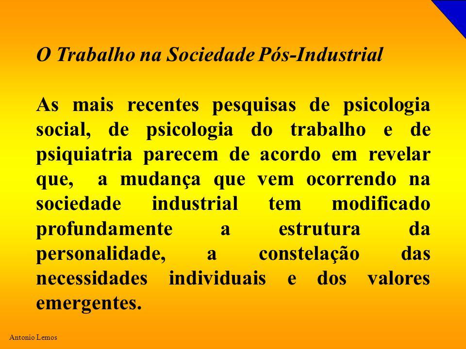 O Trabalho na Sociedade Pós-Industrial