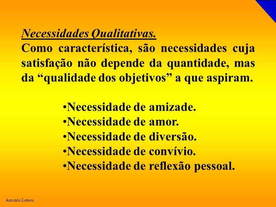 Necessidades Qualitativas.