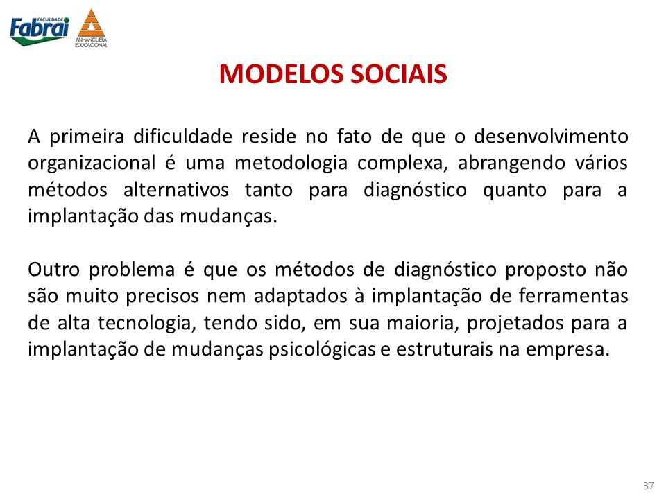 MODELOS SOCIAIS