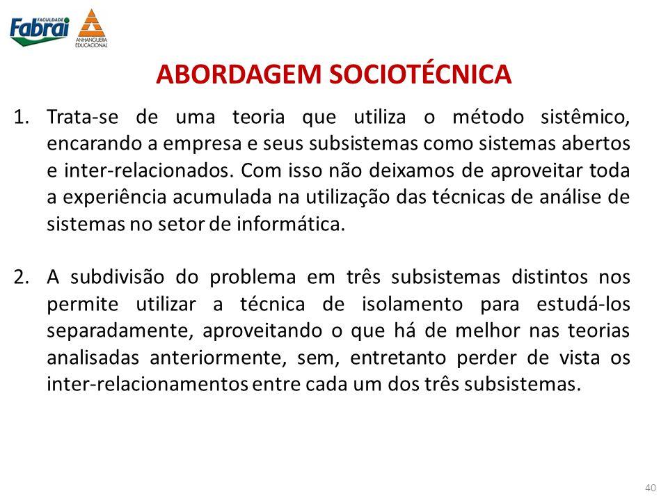 ABORDAGEM SOCIOTÉCNICA