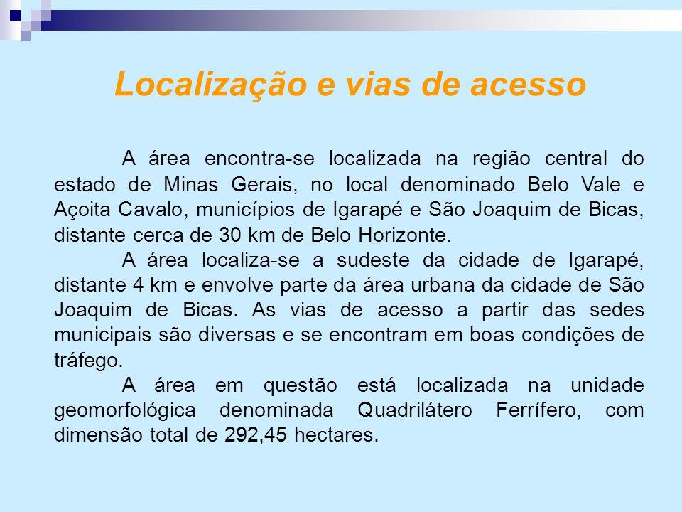 Localização e vias de acesso