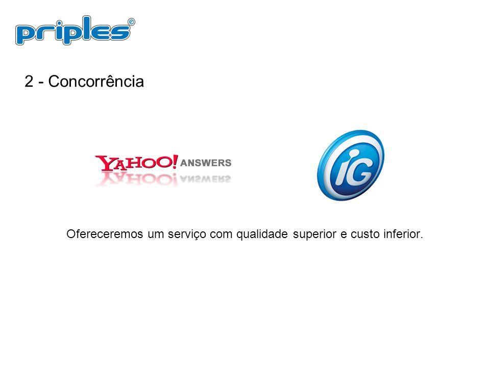 Ofereceremos um serviço com qualidade superior e custo inferior.